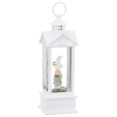 Raz Easter Bunny in a Lighted Water Gazebo Classic Home Decoration 11 3/4 Inch: Home & Kitchen