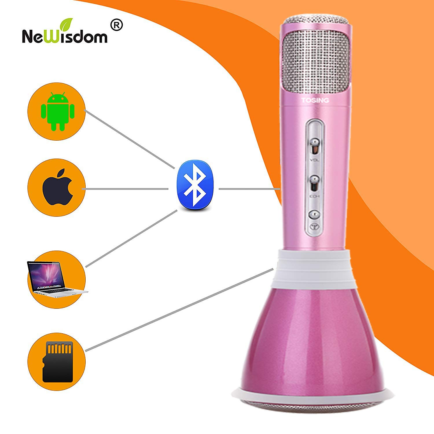 NeWisdom Top Birthday Gifts For Girls 2019 Hansel Age 5 To 13 Year Old Wireless Bluetooth Microphone Karaoke Machine 6 7 8 9 10