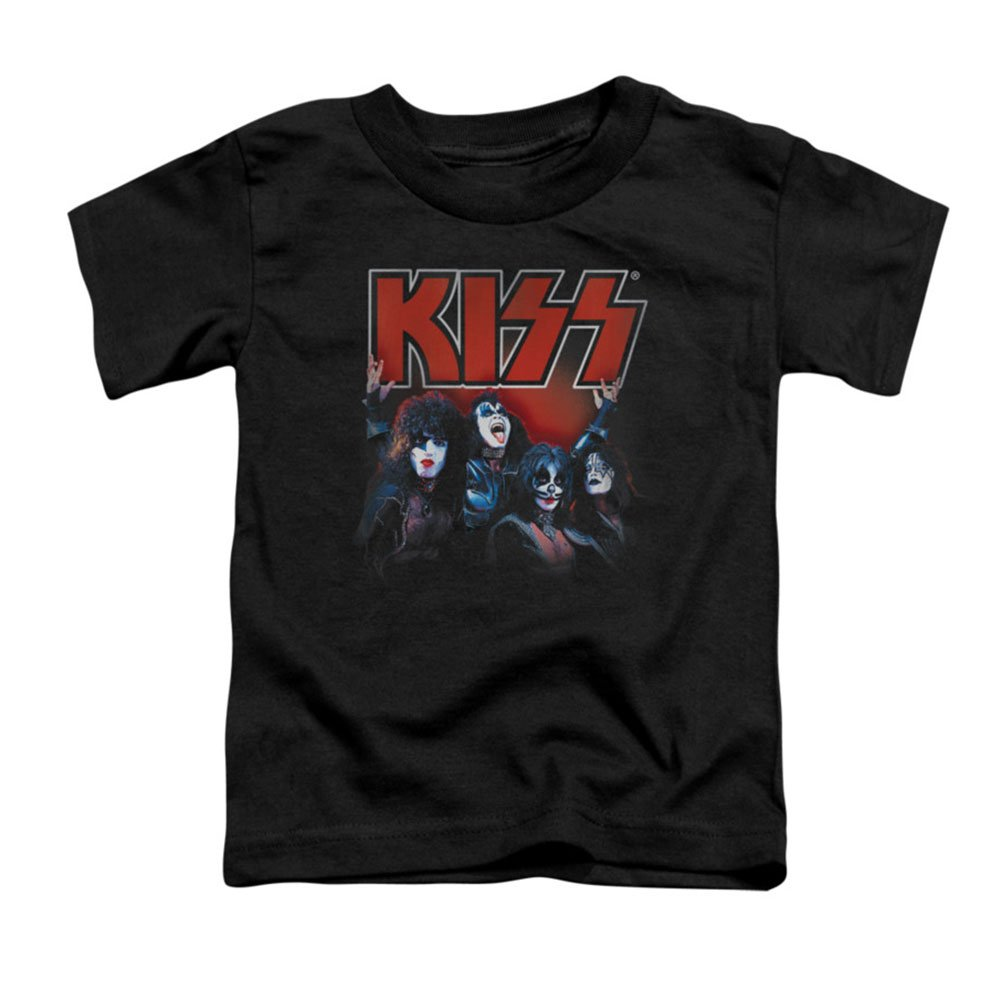 超激安 Trevco Kiss-Kings - Short Sleeve Toddler Tee, Black Kiss-Kings - Small Black 2T B00NB63W00, アカギチョウ:f9c44d49 --- a0267596.xsph.ru