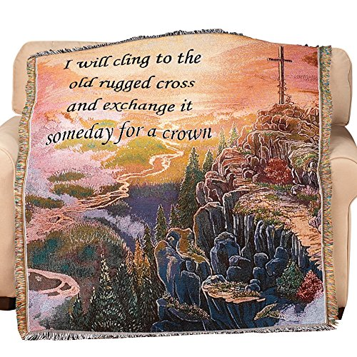 Inspirational Cross (Cross And Crown Inspirational Tapestry Throw)