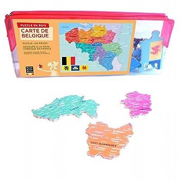 Carte Belgique Jeux.Puzzle 24 Pieces Puzzle En Bois Carte De La Belgique