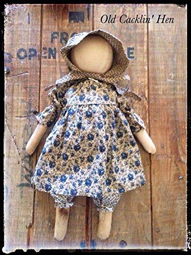 Art Doll Folk Pattern Primitive - Primitive Farmhouse Prairie Doll Folk Art Decor Prudence