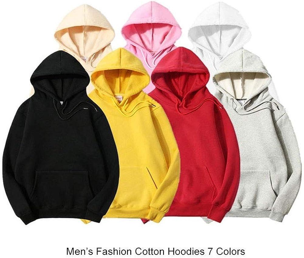 Hoodie Männer Kapuzenpullover Solid Color Lässige Männer 100% Baumwolle Sweatshirts Hip Hop Männer Hoodie Street Style Hoodies Kapuzenpullover Herren Yellow