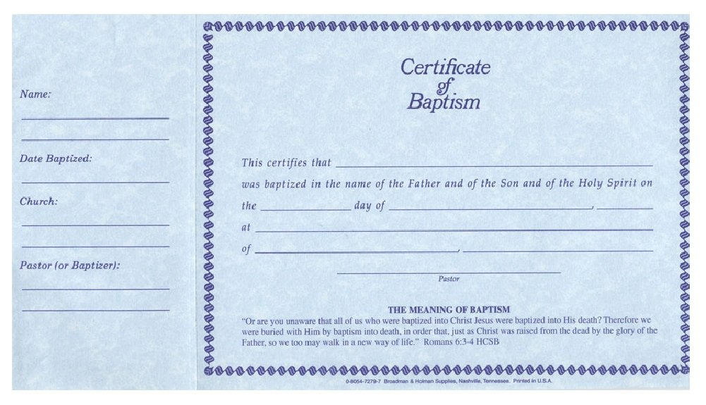 Amazon Certificate Baptism Pad 26 Pack Certificates Of