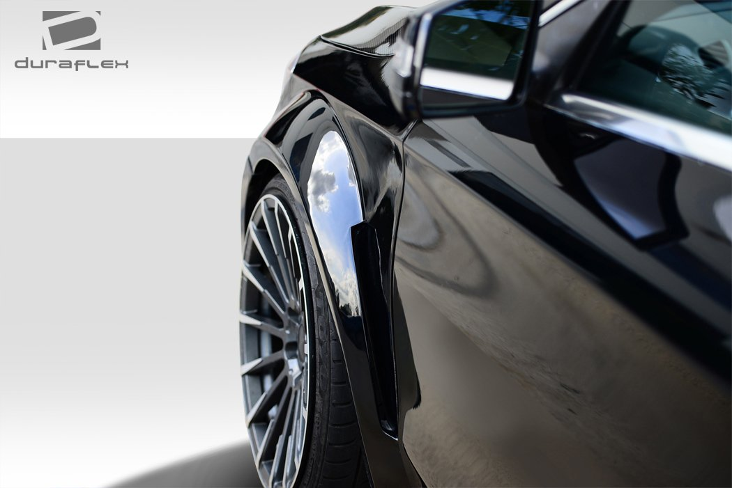 Duraflex Replacement for 2014-2015 Mercedes CLA Class Black Series Look Wide Body Front Fenders - 2 Piece by Duraflex (Image #3)