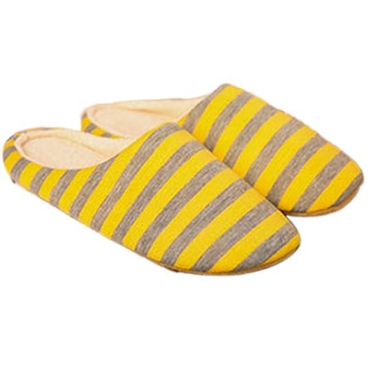 QZBAOSHU Zapatos Hombres Mujeres Caliente Suave de Interior de Algodón Casa Zapatillas Antideslizantes (L:44-45, Beige)
