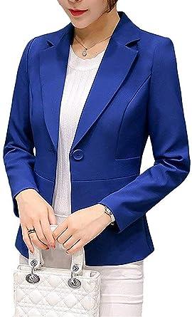 Uni-Wert Blazer Mujer Chaqueta de Traje Slim Fit Elegante Casual ...
