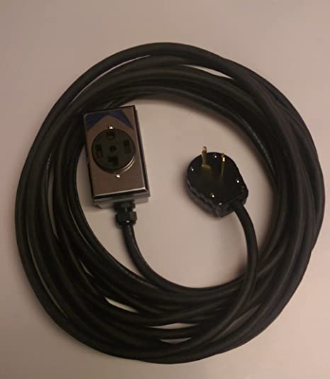 3 Prong Plug 4 Prong Outlet 30 Amp Dryer Extension Cord (10 Foot) on