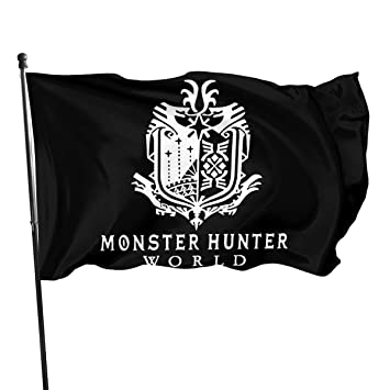 Amazon.com: MeiRiShiDan Monster Hunter Bandera del Mundo ...