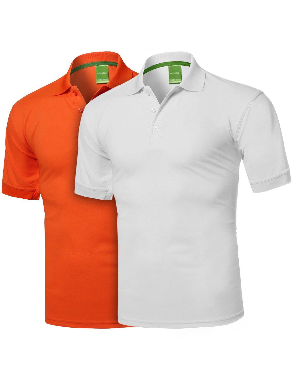Youstar SHIRT メンズ B0798W1Q7Q 3L Amtsts0133 White / Orange Amtsts0133 White / Orange 3L