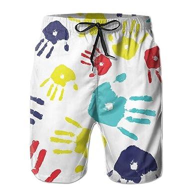 KAKICSA Mens Beach Shorts, Autism Hands Yoga Workout Shorts ...