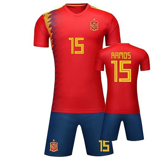 God Sweet Sergio Ramos # 15 Copa del Mundo de fútbol Camiseta de español Home Jersey with Pantalón Corto, 15 SERGIO RAMOS, L(180 bis 185): Amazon.es: ...