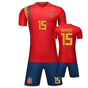 God Sweet Sergio Ramos # 15 Copa del Mundo de fútbol Camiseta de español Home Jersey