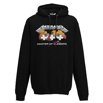 kiarenzafd - Sudadera con capucha estilo Hard Rock con parodia de Metallica, texto «Matematica», para hombre: Amazon.es: Deportes y aire libre