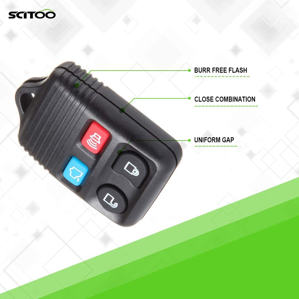 SCITOO 20pcs 4 Buttons Keyless Entry Remote Key Fob Replacement fit for Keyless Entry Option 1998-2016 Mercury Lincoln Ford Series CWTWBU331