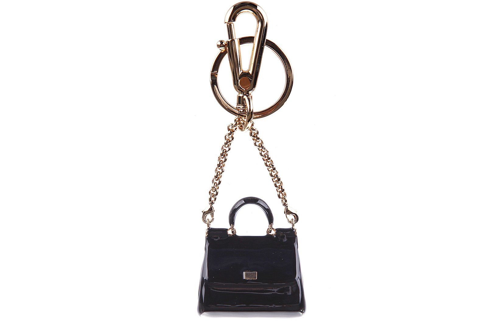Dolce&Gabbana women's steel keychain key holder black