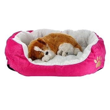 Xiaokesong® redonda o forma ovalada hoyuelo forro polar Nesting perro Cueva Cama Mascota Gato Cama para Gatos y Perros Pequeños: Amazon.es: Productos para ...