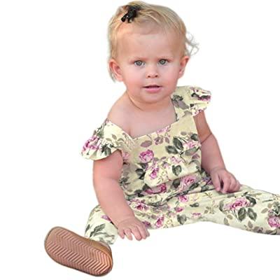 0b02f470e291 Goodlock Toddler Infant Fashion Romper Summer Baby Girls Floral Sleeveless  Clothes Jumpsuit Romper