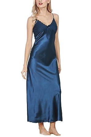 Dolamen Chemises de nuit Femmes Satin 5ba95270351