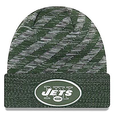 New Era New York Jets Beanie NFL 2018 On Field TD Knit Cap Hunter Green Adult One Size