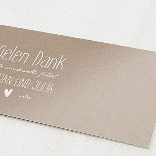 Karte Dankeschön Danke sagen Dankeskarte besonders ausgefallen mit Wunschtext!!!