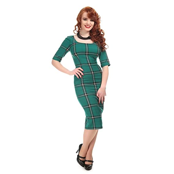 2dfbfa22d Collectif Vintage Women's Amber Evergreen Print Pencil Dress: Amazon.co.uk:  Clothing