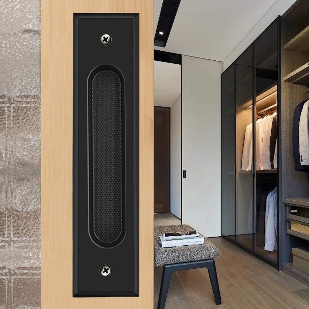 Manijas Ocultas de Cobre Puro Empuñadura de Puerta corrediza empotrada Manija del cajón del gabinete Empuje de Hebilla Negro Oscuro Empotrado Tire de 185 mm x 43 mm (Color : Negro): Amazon.es: Hogar
