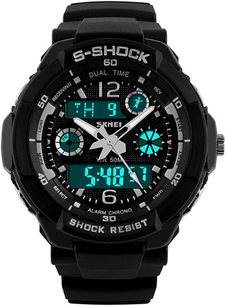 UGE 164ft Waterproof S-Shock Sport Hiking Multifunction Digital Unisex Watch Wristwatch