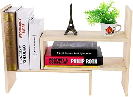 EBTOOLS Estante de Libros, Ajustable para Escritorio, estantería ...