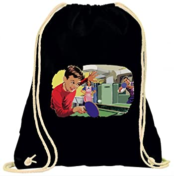 696f136252ea  Gym bag  quot Retro Vintage Family Table Tennis Game Boy Mother Father +  Kitchen