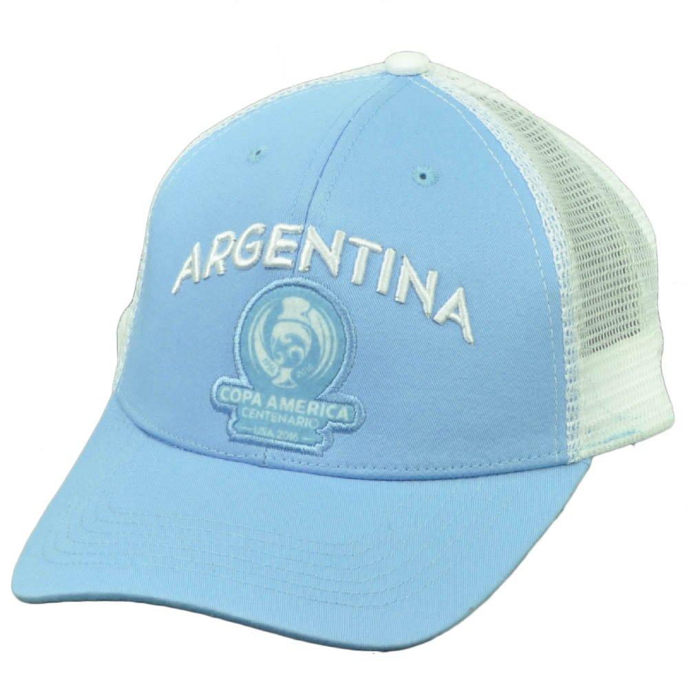アルゼンチンCopa America Centenario 2016メッシュFutbolサッカー帽子キャップブルーホワイト B01MF9YZDY