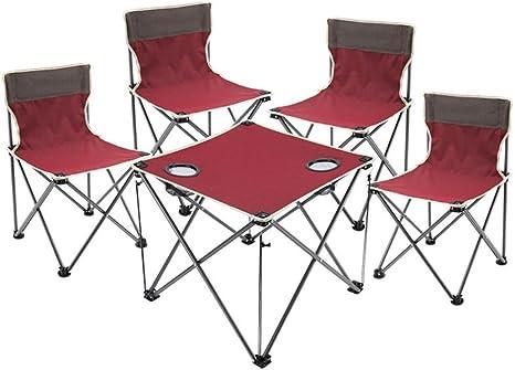 Silla de playa conjunto de mesa y sillas de exterior de cinco ...
