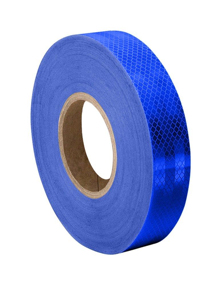 1 Rolle 28,6 mm x 46 m reflektierend 3M 3435 Blue Micro Prismatic Klebeband