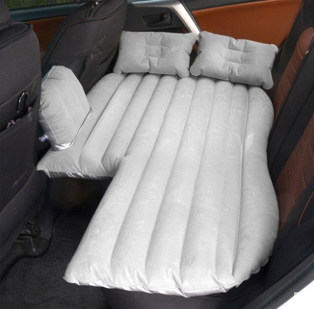 DXMCC Auto Luftmatratze, Auto Luftbett, Auto Bett Mobile Kissen Camping Luft Bett Rücksitz Erweiterung Matratze Gürtel Auto Luftpumpe Zwei Kissen Für Den Außenbereich Fahren
