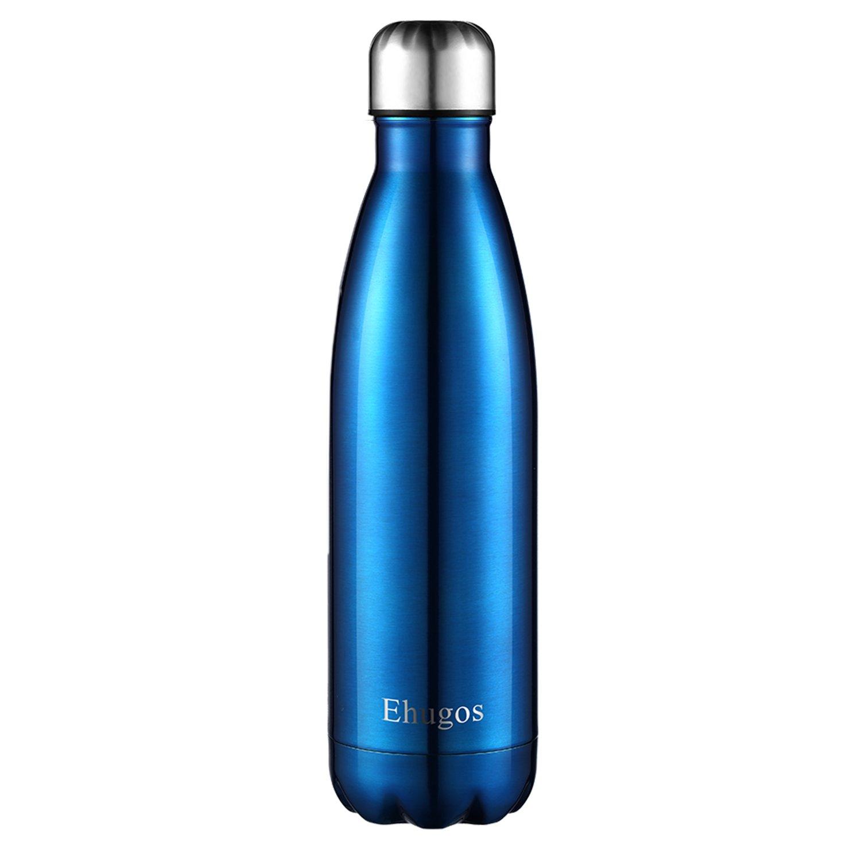 Botella de Agua Deportiva de Acero Inoxidable Hermético - Mantiene el Calor y el Frio Doble Pared Aislamiento Impermeable Reutilizable 500ml - Apto para ...