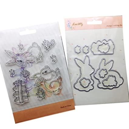 Thobu Lovely Dog Steel Metal Cutting Embossing Dies Stencil for DIY Scrapbooking Paper Card Craft