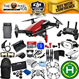 DJI Mavic Air Bundle With Filter Kit, Landing Pad, 64GB Micro SD, Landing Gear, Charging Hub + Much More (1 Battery Total, Flame Red)