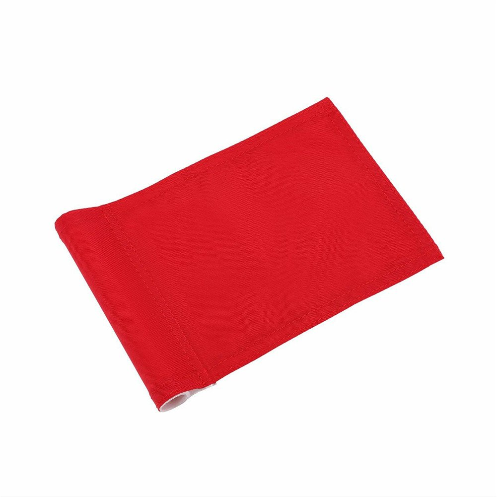 Itpossible Golf Flags, Solid and Nylon Training Golf Putting Green Flag, Indoor Outdoor Backyard Garden Portable Golf Target Flags, Red