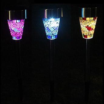 Mosaik Solarleuchten Garten LED Gartenleuchten Bunt Mosaik Leuchten Für  Garten Balkon Terrasse Dekoration By NORDSD (
