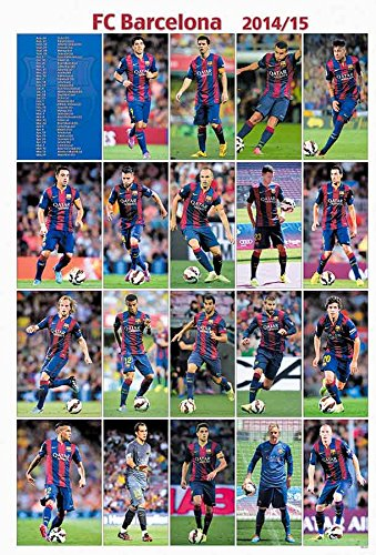 Barcelona 2014 - 2015 Football Soccer Wall Decoration Poster (#001) (Barcelona 2014 Fc Poster 2015)