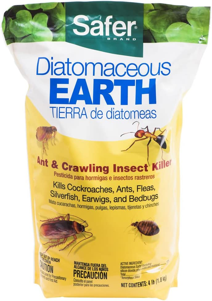 B01D60GAW2 Safer 51703 Diatomaceous Earth-Bed Bug Flea, Ant, Crawling Insect Killer 4 lb 61bPG87I8IL