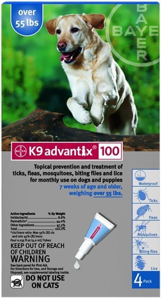 K-9 Advantix K9 Advantix Flea Control for Dogs Over 55 Pounds (4 Applications) by