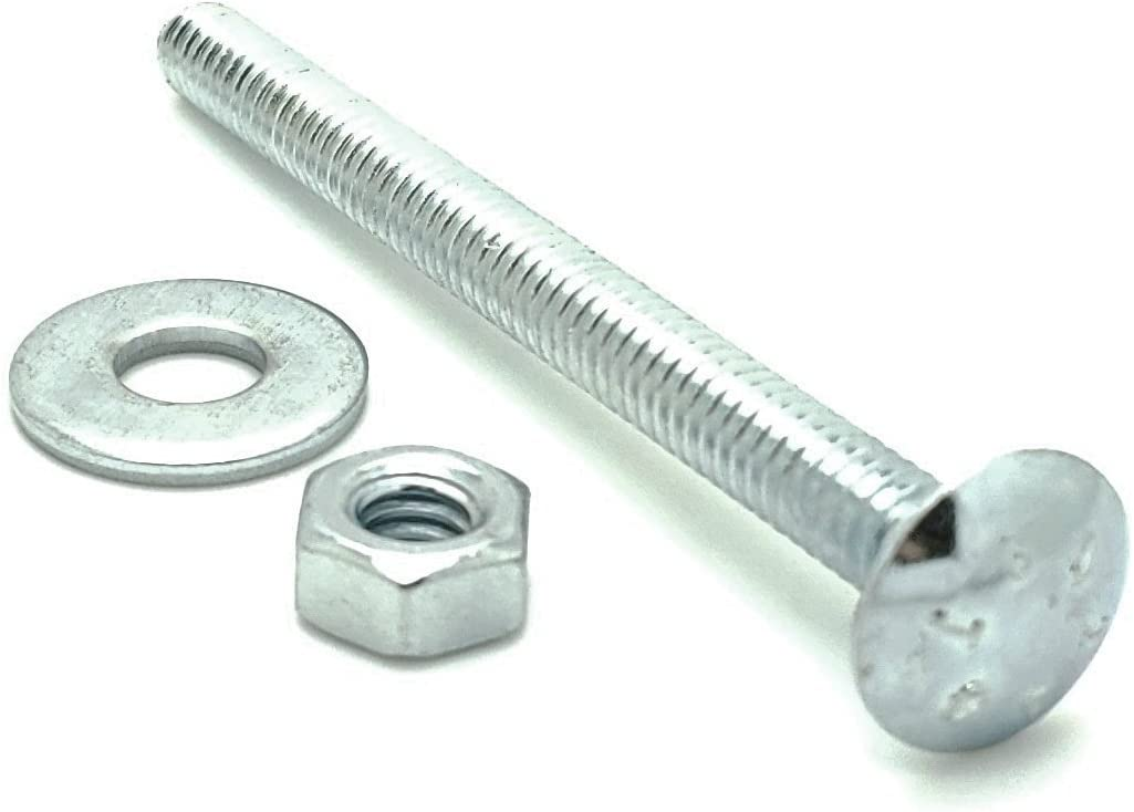 10 SNUG Fasteners 5//16-18 x 3 Long Carriage Bolts Set w//Nuts /& Washers Ten SNG302
