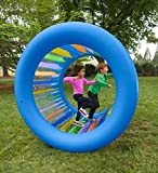 Roll With It Giant Heavy Duty Colorful Inflatable Rolling Wheel, Outdoor Active Play Toy for Kids and Adults, Inside…