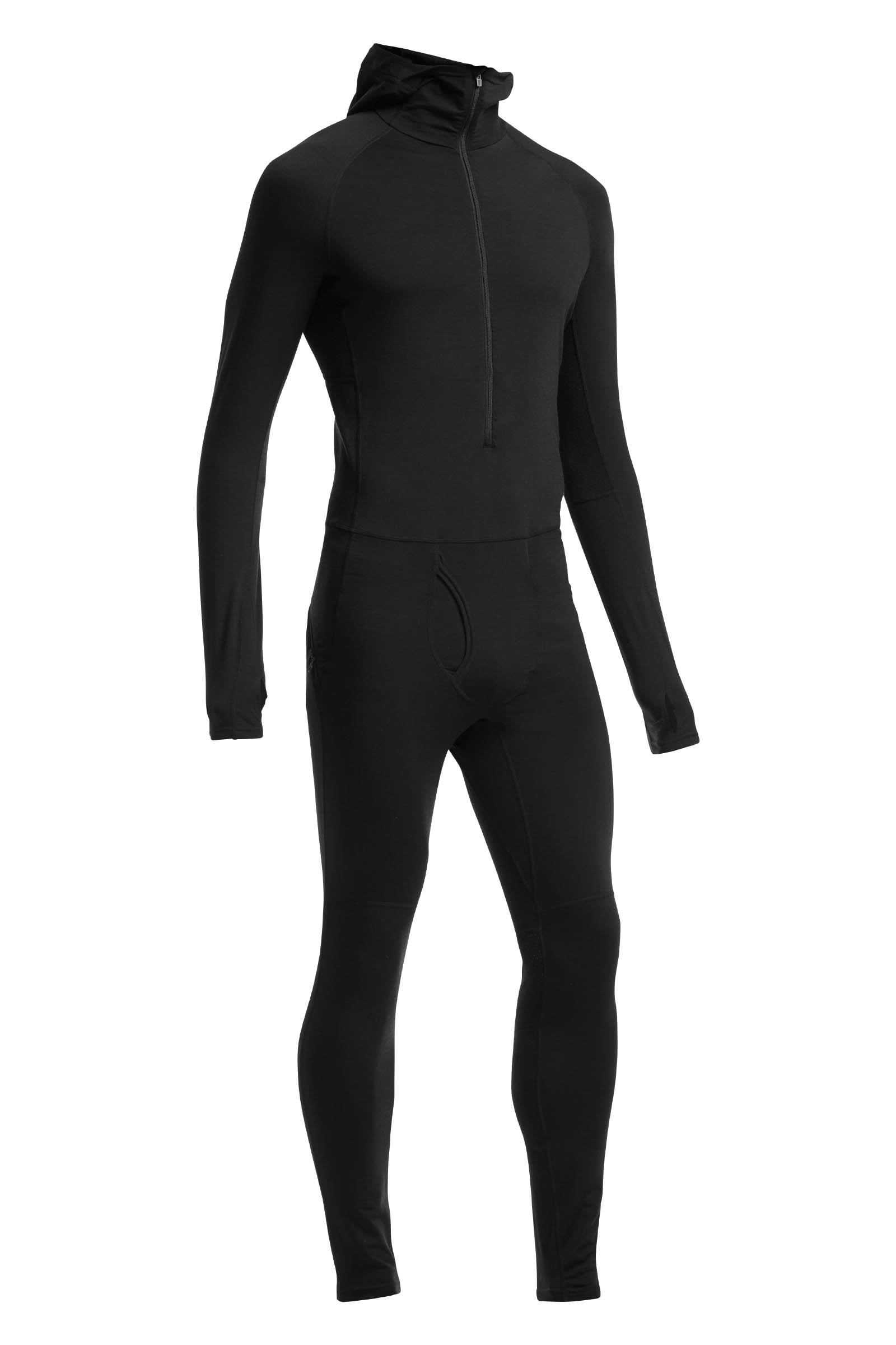 Icebreaker Merino Mens Zone One Sheep Suit, Black, Large