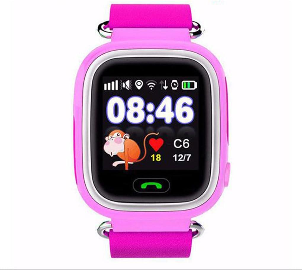 Posicionamiento GPS del teléfono Reloj de 1,22 Pulgadas Pantalla táctil del Color del Reloj de los Hijos del bebé SOS SmartWatch Q90