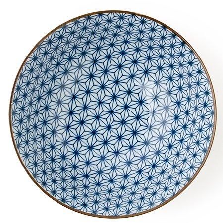 Asanoha Design Bowl Blue and White 7.5''dia. x 3''h