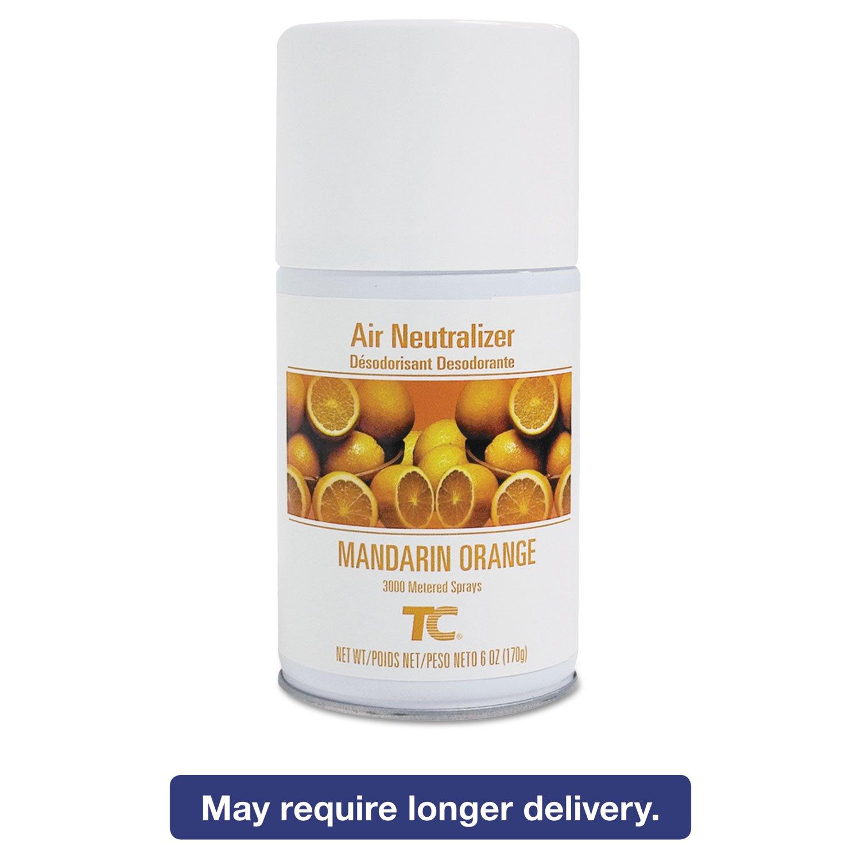 Rubbermaid Commercial TC Standard Aerosol Air Freshener Refill, Mandarin Orange (12 Per Carton) - BMC-TEC 401504