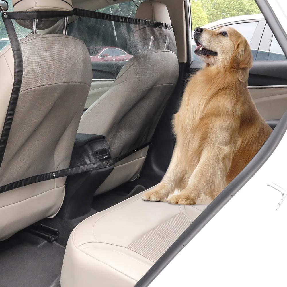 f/ür Hunde R/ücksitz Netz mit Haken und Kordeln elastisch universal f/ür Reisen AIM Cloudbed Autoschutznetz f/ür Haustiere