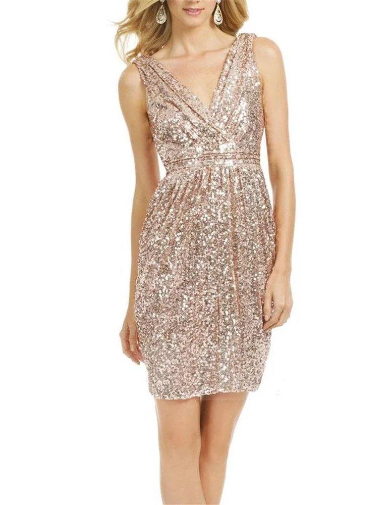 cf882d2870a LanierWedding Gold Sequins Bridesmaid Dresses Plus Size Prom Dresses 601 Gold  Size 10